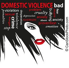 pare violência, doméstico