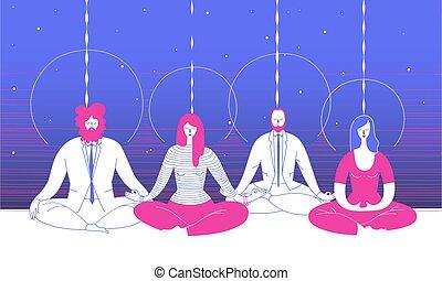 Ufficio Disegno Yoga : Compiti lavorante lavoro gruppi parecchi diviso. o gruppo