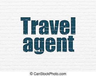 pared, agente de viajes, plano de fondo, turismo, concept:
