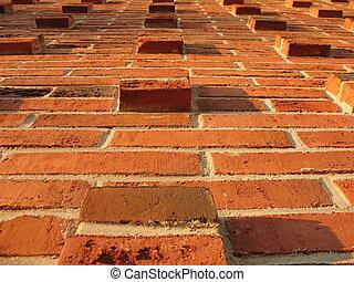 pared, albañilería, ladrillo, alivio