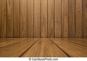 pared, apartadero, madera, plano de fondo, piso