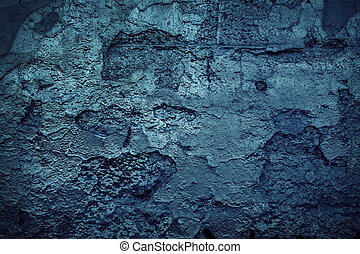 pared azul, grunge