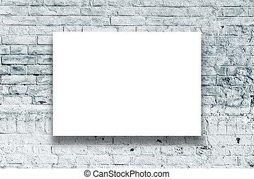 pared, cartel, galería de arte, ahorcadura