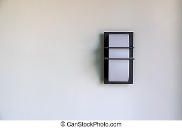 pared, casa, moderno, iluminación, diseño, montado