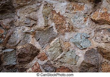 pared, cemento, roca