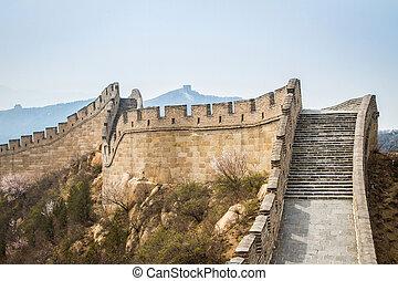 pared, china, grande, china