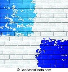 pared, color, ladrillo