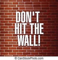 pared, concepto, golpe, dont, ilustración