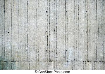pared, concreto, expuesto
