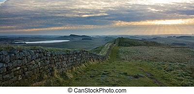 pared de hadrians, panorama