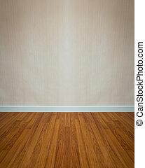 pared, de madera, blanco, vacío, piso