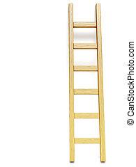 pared de madera, escalera, blanco