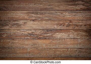 pared de madera, o, piso