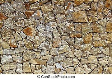 pared de piedra, patrón, construcción, roca, albañilería