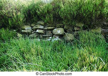 pared de piedra seca
