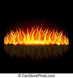 pared del fuego, en, black.