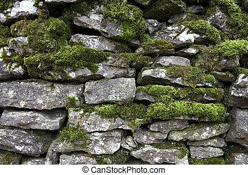 pared, drystone, detalle