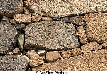 pared, drystone, plano de fondo
