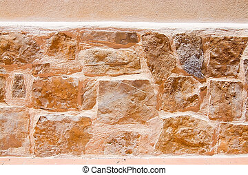 pared, drystone, plano de fondo, textura