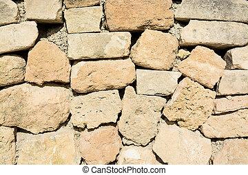 pared, drystone, primer plano