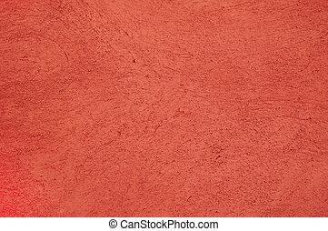 pared, enyesado, plano de fondo, rojo