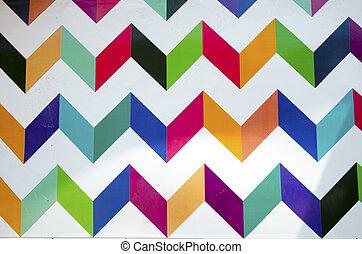pared, geométrico, pintura, colorido