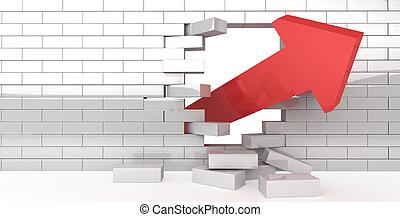pared, interrupción