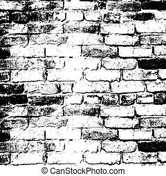 pared, líneas, colocar, casa, solution., v, ladrillo