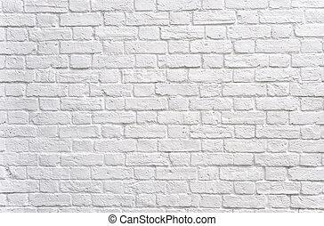 pared, ladrillo blanco