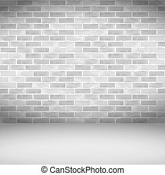 pared, ladrillo blanco