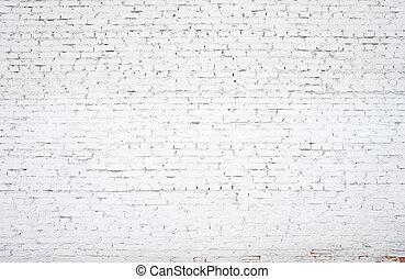 pared, ladrillo, blanco