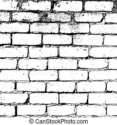 pared, ladrillo blanco, textura