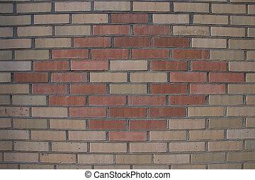 pared, ladrillo, (brickwork), plano de fondo