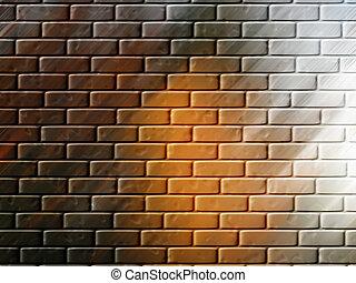 pared ladrillo, plano de fondo, o, papel pintado