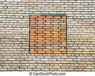 pared, ladrillo, silicate