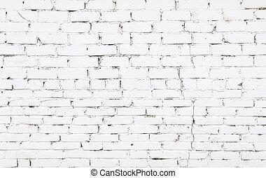 pared, ladrillos, ladrillo, viejo, blanco