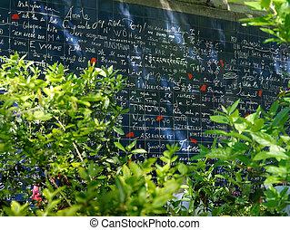 pared, montmartre, amor, parís, francia