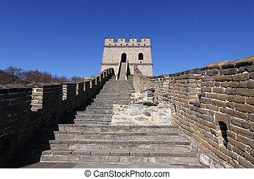 pared, mutianyu, grande, china