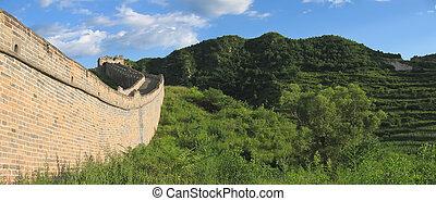 pared, panorama, grande, detalle, china