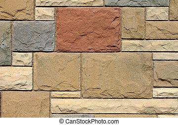 pared, piedra, primer plano