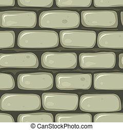 pared, piedra, seamless