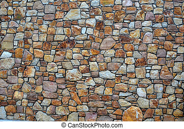 pared, piedras, piedra, natural