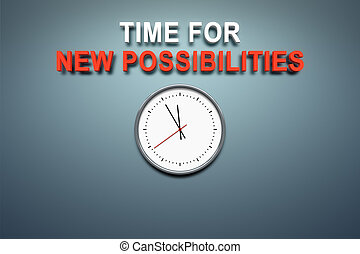 pared, posibilidades, nuevo, tiempo