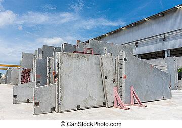 pared, precast, concreto, panel