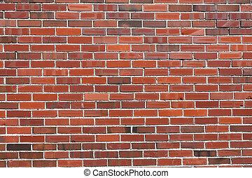 pared roja del ladrillo
