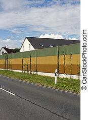 pared, ruido, barrera