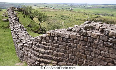 pared, rural, drystone, pizarra