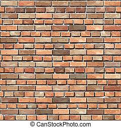 pared, seamless., ladrillo