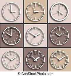 pared subida, digital, clock.