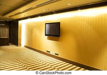 pared, televisión de la pantalla plana